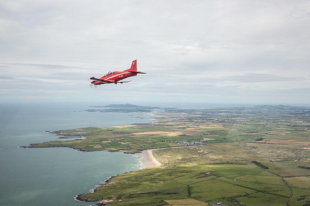 Überflug von Emmen nach Valley im Rahmen der Sparten Ausbildung Jet PK09.